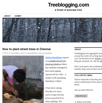 Treeblogging.com screenshot