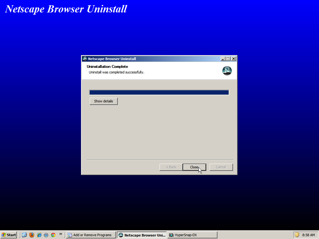 Netscape Browser Uninstall