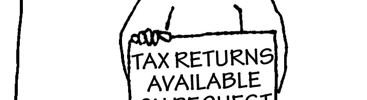 Homeless guy with sign: Tax Returns Available on Request