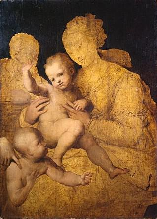 Perino del Vaga: Holy Family with Saint John the Baptist