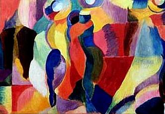 Sonia Delaunay: Bal Bullier, 1913 (detail)