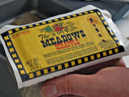 Meadows brand scrapple in the Big Apple
