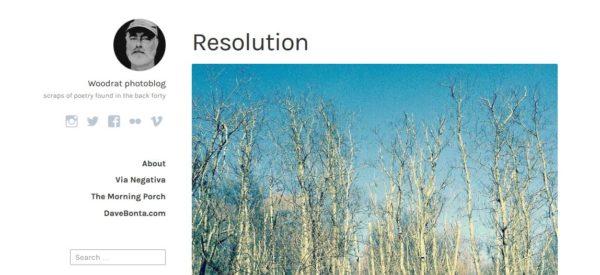 Screenshot of Woodrate photoblog.
